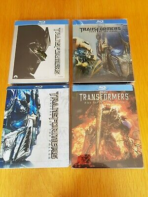 TRANSFORMERS 1-4 Blu-ray Steelbooks with J-Cards