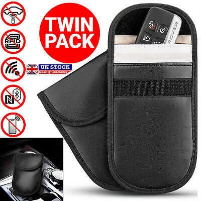 2 x Car Key Signal Blocker Case Fob Pouch Keyless RFID Blocking Bag Credit Card