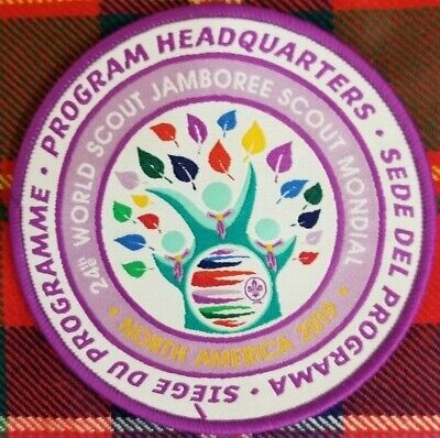24th 2019 WORLD SCOUT JAMBOREE PROGRAM HEADQUARTERS WOVEN PATCH