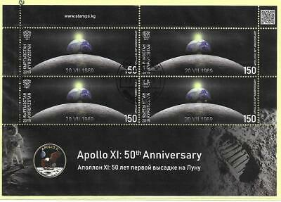 2019    KYRGYZSTAN  -  50th ANNIVERSARY OF MOON LANDING  -  SHEETLET  -  USED