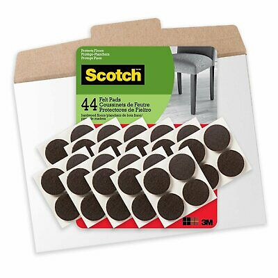 Scotch Mounting & Surface Protection FP821-44NA  Felt Pads (Lot of 2, 88 Total)