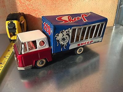 Lkw in Zinn Tin Spielzeug Transport Tiere Very Old Made in China