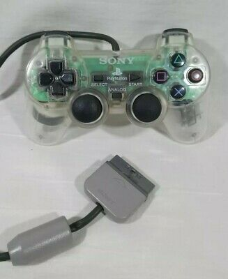 Clear Official Sony Playstation 1 PS1 Analogue DualShock Controller SCPH-1200