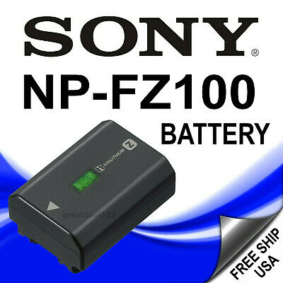 Sony NP-FZ100 Rechargeable Lithium-Ion Battery 2280mAh forA9 A7Riii A7iii-Sealed