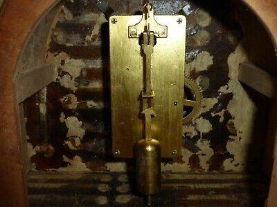 Vintage 1935-1937 Davall Timepiece Clock In Working Order With Pendulum And Key