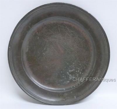 18th century French Pewter Plate with Touch Marks