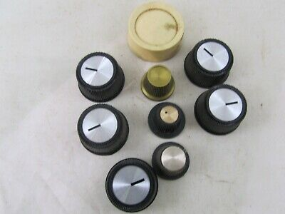 9 Vintage Control Knobs For TV, Music Equipment And Electronics