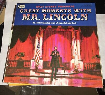 Great Moments With Mr. Lincoln Disneyland ‎STER 3981 1964 Royal Dano Disney Rare