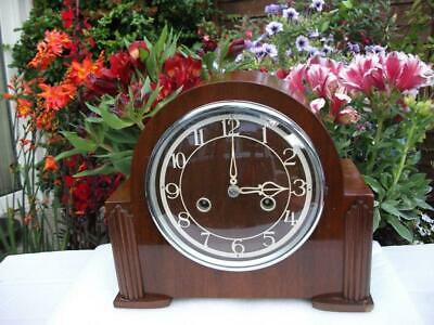 Superb Enfield (Smiths) 8 Day Striking Mantel Clock. 1949. Fully Overhauled.