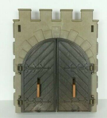 Vtg Playmobil Knights Medieval Castle Large Entrance Double Door With Latches