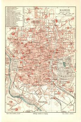 Antique map. SPAIN. CITY MAP OF MADRID. 1905