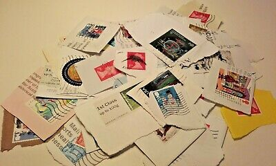Mixed Used Postage Stamps Bundle Joblot On Paper Stamp Collection