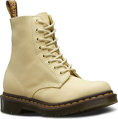 Dr Martens Dr Martens Ladies 1460 Pascal Pastel Yellow Virginia Nappa Soft Leather 8 Eye Boots