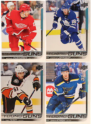 U-Pick 2018-19 Young Guns Upper Deck Series One, Two, & Update Rookie Card RC