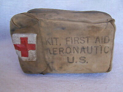 Ww Ii Aeronautical Medic Red Cross First Aid Kit With Contents