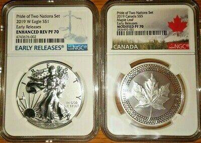 2019 Pride Of Two Nations Coin Set NGC PF70 Early Releases 2 Coin Set
