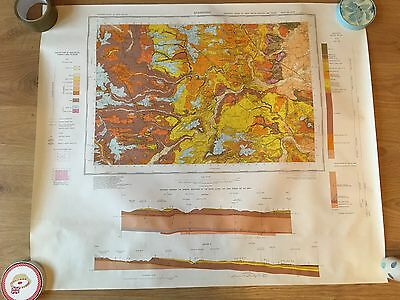 STAMFORD Geological Survey Map Solid and Drift