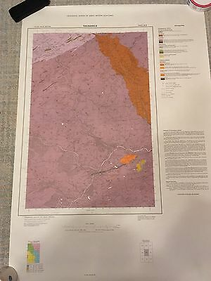 GALASHIELS Geological Survey Map 1:50000 Solid sheet 25W