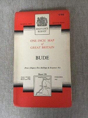 1961 Ordnance Survey One Inch Seventh Series Map 174 Bude (incl Boscastle)