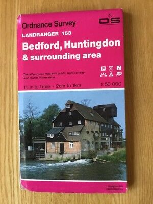 1994 Ordnance Survey Landranger Map 153 Bedford & Huntingdon (incl St Neots )