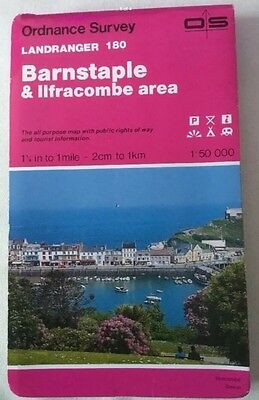 1992 Landranger Series Ordnance Survey Map 180 Barnstaple And Ilfracombe Area
