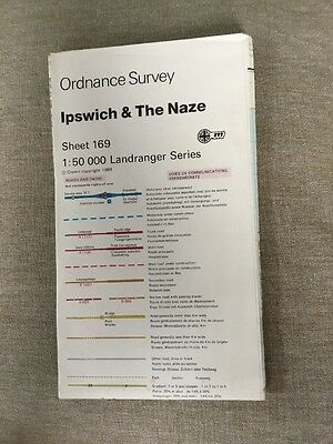 1988 Ordnance Survey Landranger Second Series Map 169 Ipswich And The Naze
