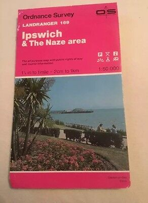 1990 Landranger Ordnance Survey Map 169 Ipswich And The Naze Area (Felixstowe..)