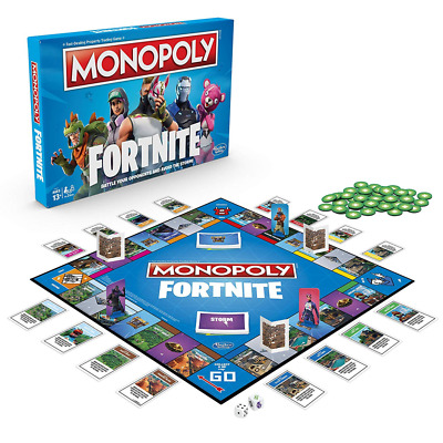 Monopoly Fortnite Edition Board Fun Family Game with 27 Fortnight Outfits