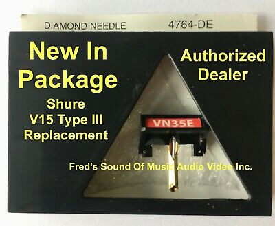 NEW Shure V15 Type III VN35E Needle Elliptical Diamond Stylus Replacement VN35HE