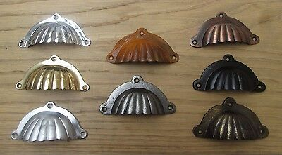 Victorian Style Shell Cup Cupped Chest Cabinet Drawer Cupboard Pull Handles