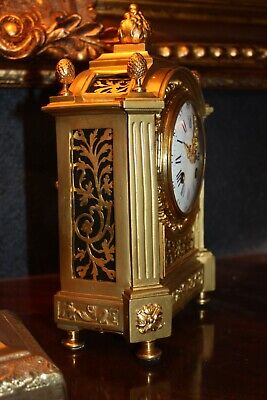 Stunning Antique 1860-90 French Mantle Clock Gilt