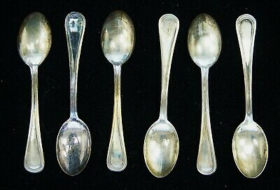 """Lot of 6 Vintage Demitasse Spoons Argento 800 Silver Italy 3 3/4"""" A8896"""