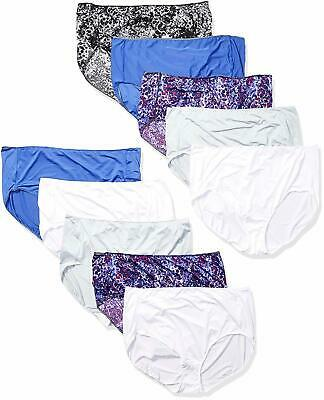8 Hanes Womens Cool Comfort Microfiber Brief Panties Sizes 6-10 ASSORTED COLORS
