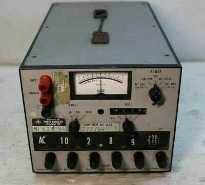 John Fluke MFG Model 883AB AC/DC Differential Voltmeter
