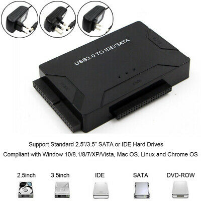 Optical Drive USB 3.0 To SATA IDE Converter Hard Drive Adapter Data Transfer