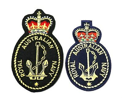 2 different Royal Australian Navy Crest patches