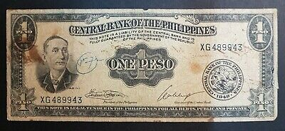 Banknote, Philippines, 1 Peso, 1949