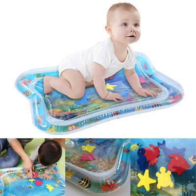Baby Kid Water Play Mat Inflatable For Infants Toddlers Fun Tummy Time Sea World