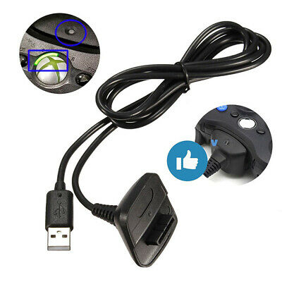 For Xbox 360 Wireless Controller USB Charging Adapter Cable Replacement Charger
