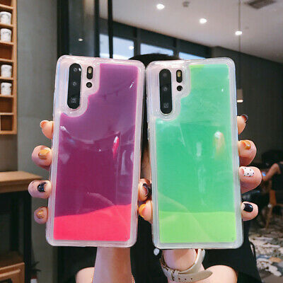 For Huawei Mate 30 P30 P20 Lite Pro Nova 3i Luminous Quicksand Hybrid Case Cover