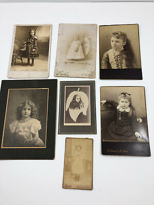 7 Antique Cabinet Photo Photograph Victorian Women Baby Girl Child Toddler 1890