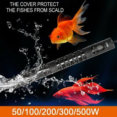 Aquarium Submersible Heater Fish Tank Auto Water Thermostat 50/100/200/300/500W