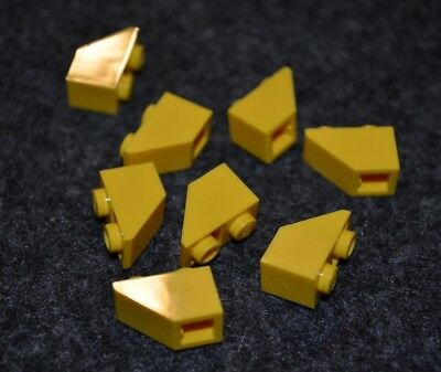 1x2 Yellow Small Slope with Vents Bricks ~  Lego  ~ NEW ~ 8