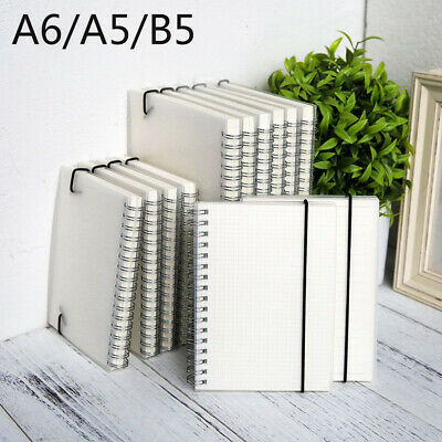 A5/A6/B5 Spiral Book Coil Notebook To-Do Lined Dot Blank Grid Paper Sketchbook