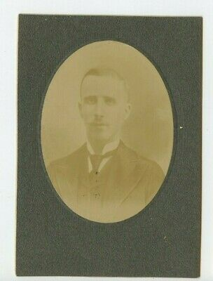 Vintage Cabinet Card Handsome young man w mustache