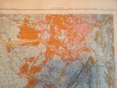 MACCLESFIELD Geological Survey of Great Britain Map drift sheet 110