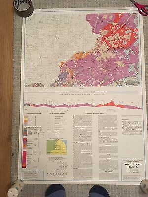 THE CHEVIOT Geological Survey Map 1:50000 solid & drift geology sheet 5