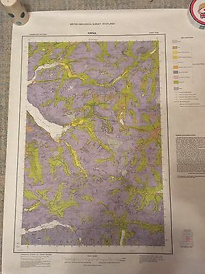 KINTAIL Geological Survey Map 1:50000 DRIFT Geology sheet 72W