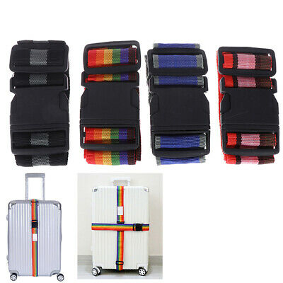 Luggage Strap Cross Belt Packing 180CM Adjustable Travel Buckle Baggage Be WH