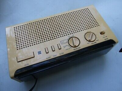 Vintage National Panasonic  Cream  Digital Clock Radio  Japan Made Working